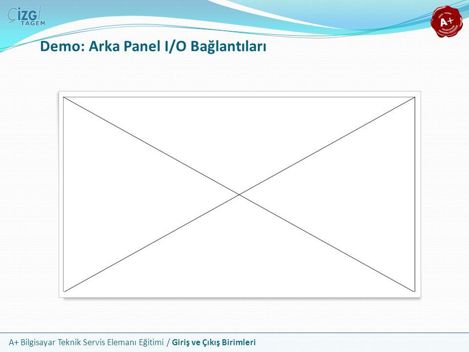 A+ Bilgisayar Teknik Servis Elemanı Eğitimi / Giriş ve Çıkış Birimleri Demo: Arka Panel I/O Bağlantıları