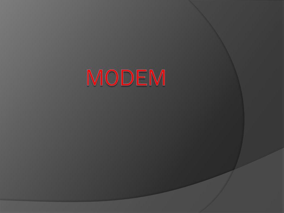 Modem Nedir ?  Bilgisayarınızın telefon hatlarını kullanarak iletişim kurmasını sağlayan cihazdır.