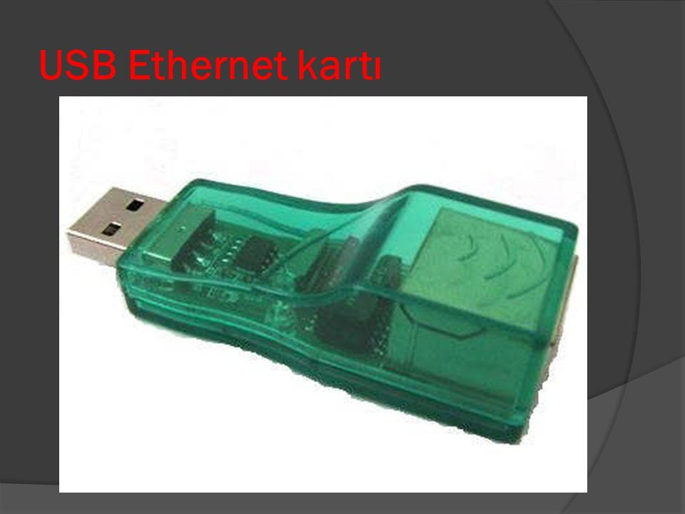 MAC Adresi  Ethernet ağlarında her bilgisayarın tek bir adresi vardır.