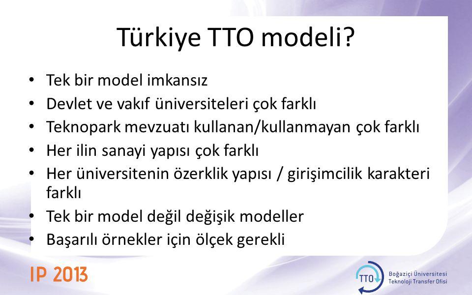 Türkiye TTO modeli.
