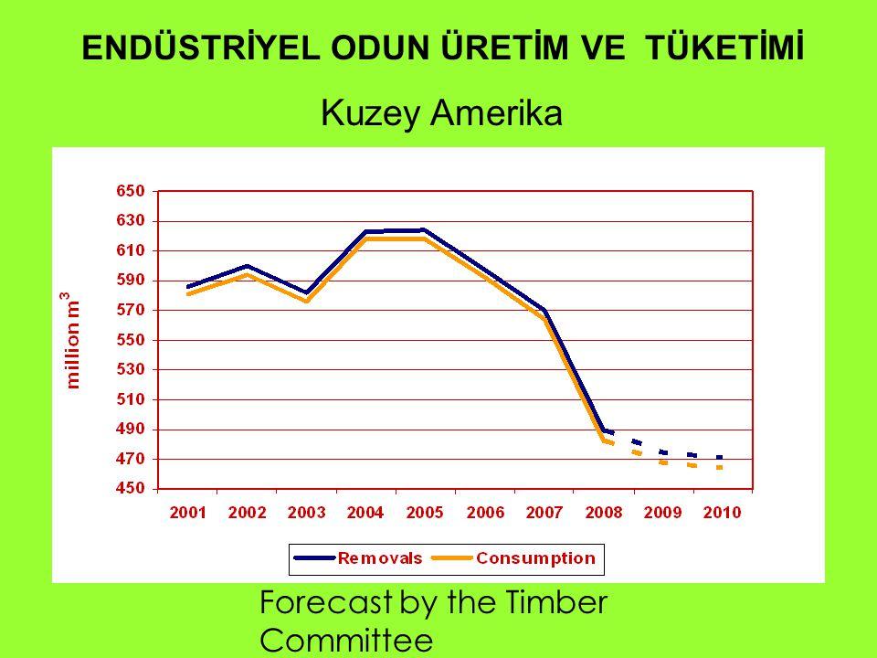 ENDÜSTRİYEL ODUN ÜRETİM VE TÜKETİMİ Kuzey Amerika Forecast by the Timber Committee