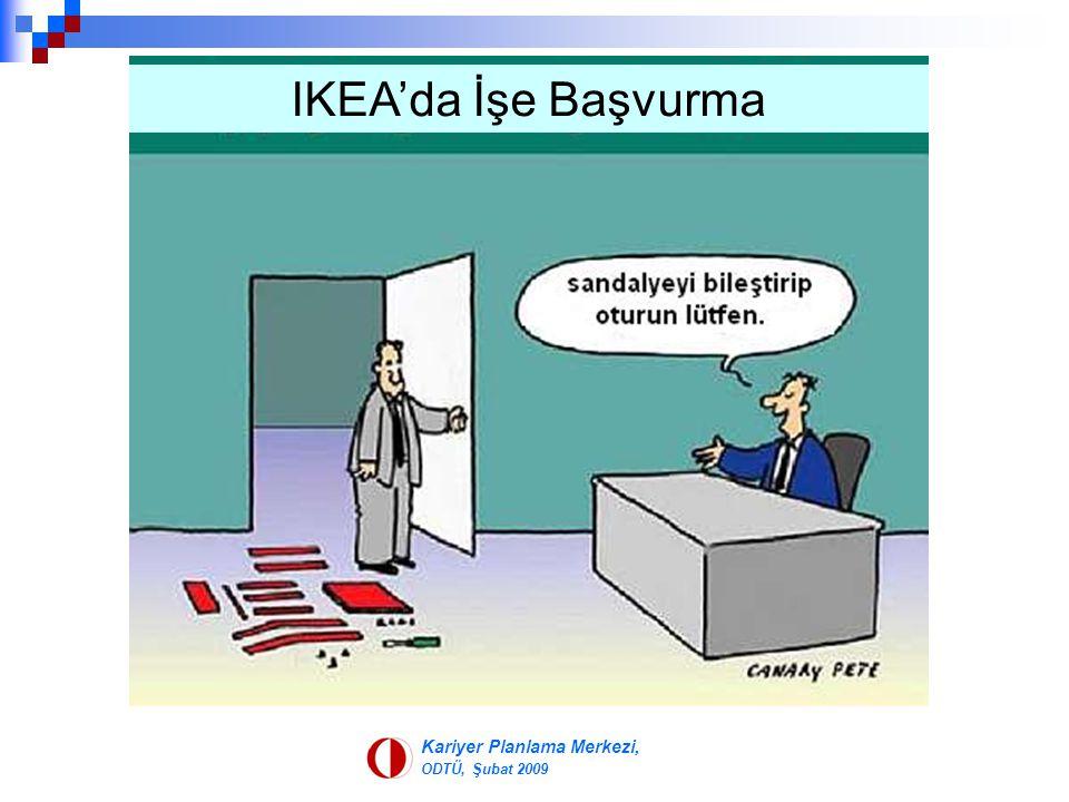 Kariyer Planlama Merkezi, ODTÜ, Şubat 2009 IKEA'da İşe Başvurma