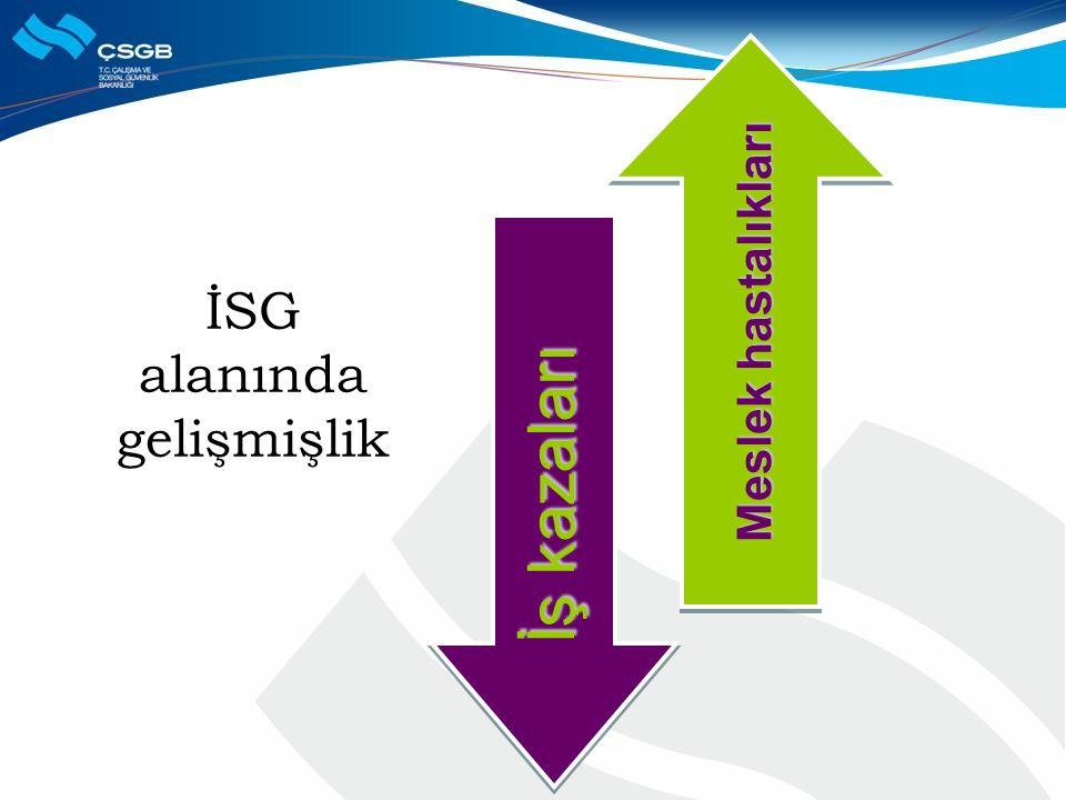 İSG alanında gelişmişlik Meslek hastalıkları İş kazaları