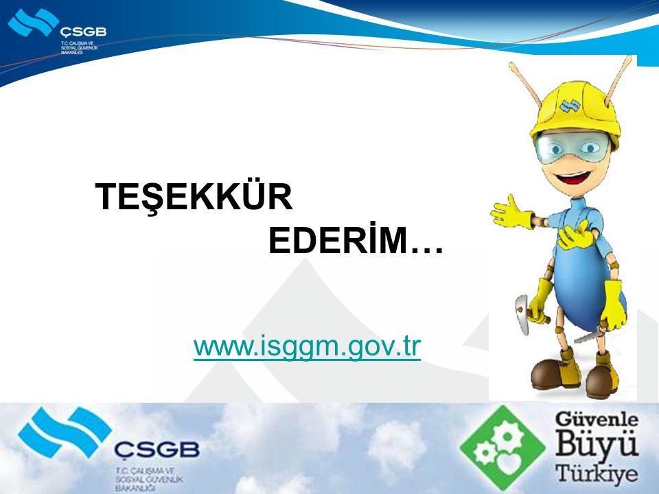 TEŞEKKÜR EDERİM… www.isggm.gov.tr
