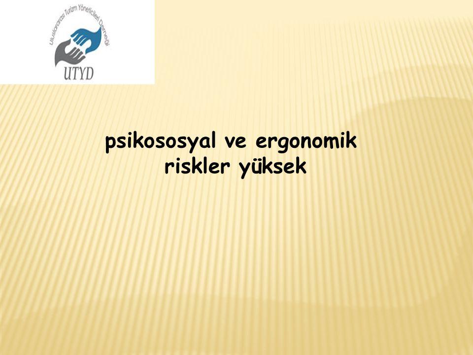 psikososyal ve ergonomik riskler yüksek