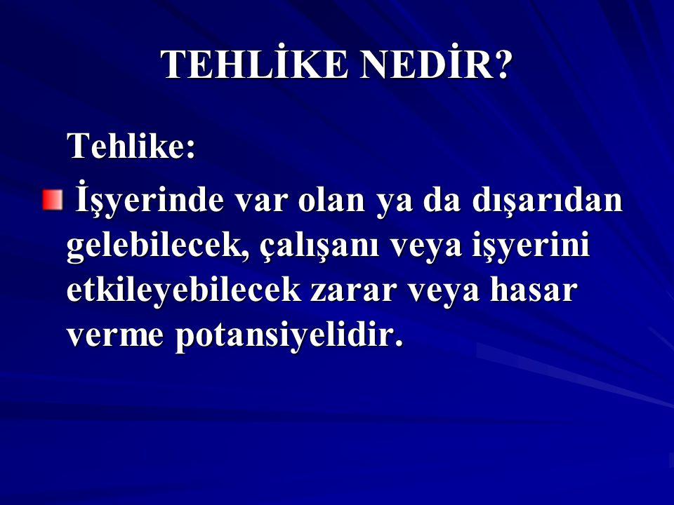 TEHLİKE NEDİR.