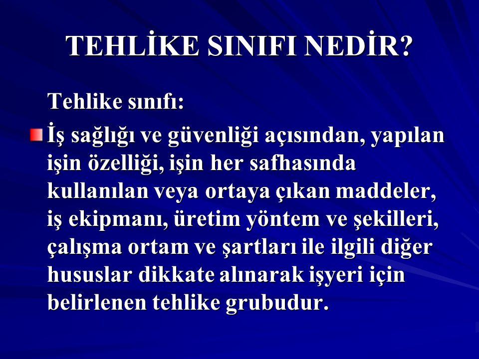 TEHLİKE SINIFI NEDİR.