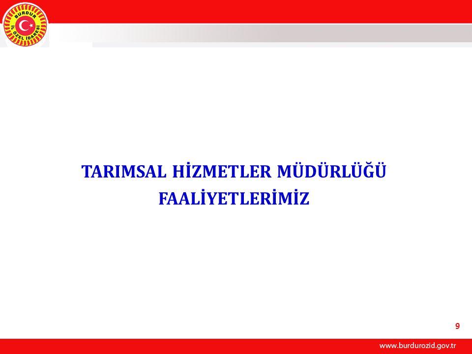 TARIMSAL HİZMETLER MÜDÜRLÜĞÜ FAALİYETLERİMİZ 9