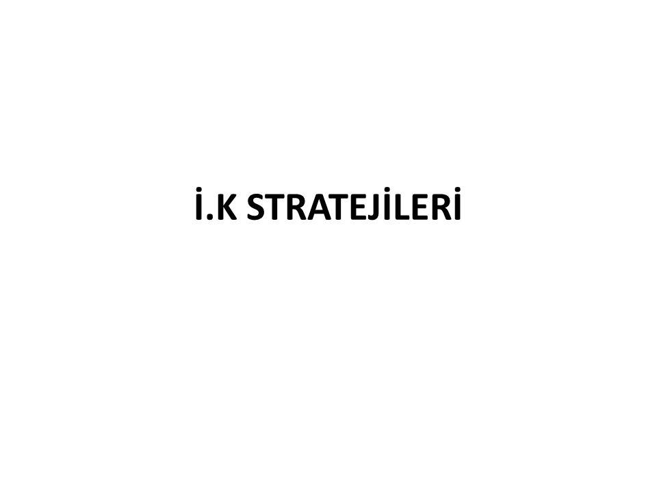 İ.K STRATEJİLERİ