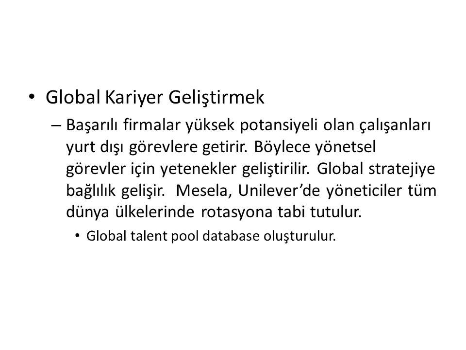Global Kariyer Geliştirmek – Başarılı firmalar yüksek potansiyeli olan çalışanları yurt dışı görevlere getirir. Böylece yönetsel görevler için yetenek