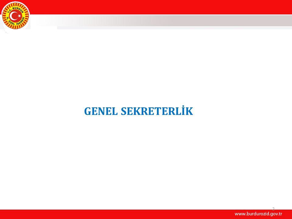 2 GENEL SEKRETERLİK