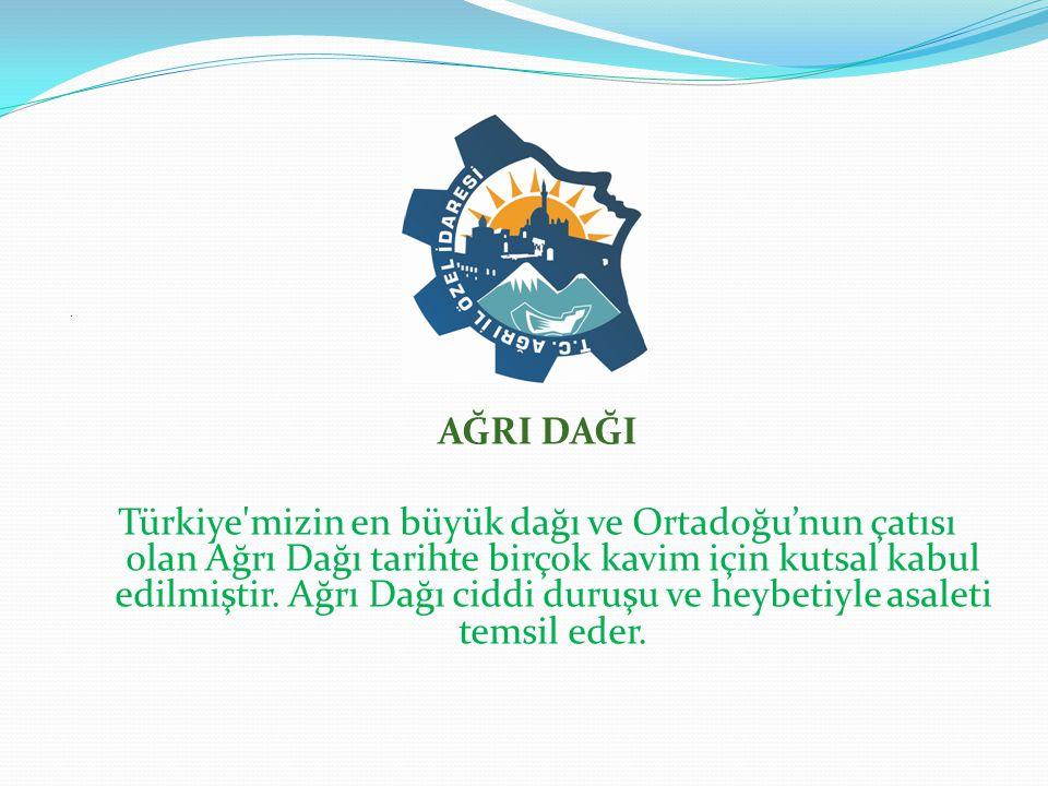 AĞRI DAĞI Türkiye mizin en büyük dağı ve Ortadoğu'nun çatısı olan Ağrı Dağı tarihte birçok kavim için kutsal kabul edilmiştir.