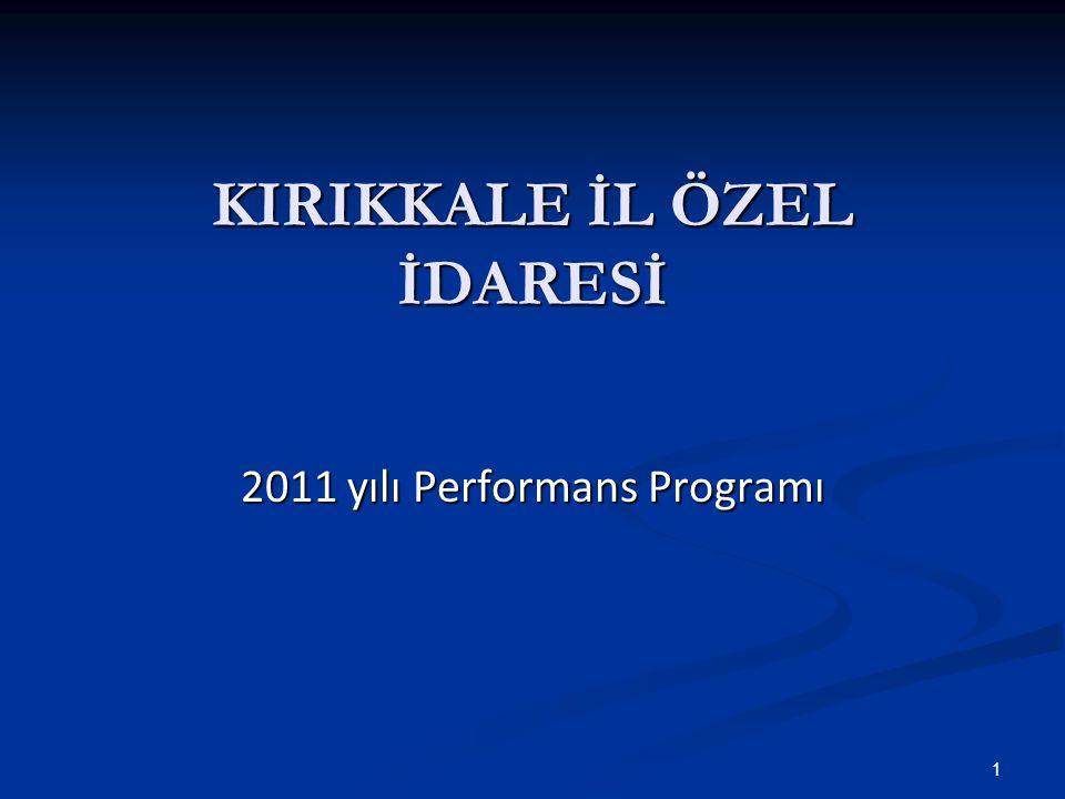 KIRIKKALE İL ÖZEL İDARESİ 2011 yılı Performans Programı 1