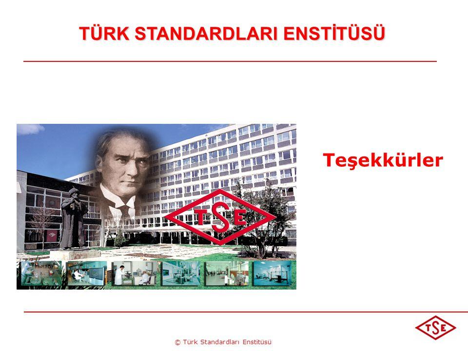 © Türk Standardları Enstitüsü TÜRK STANDARDLARI ENSTİTÜSÜ Teşekkürler