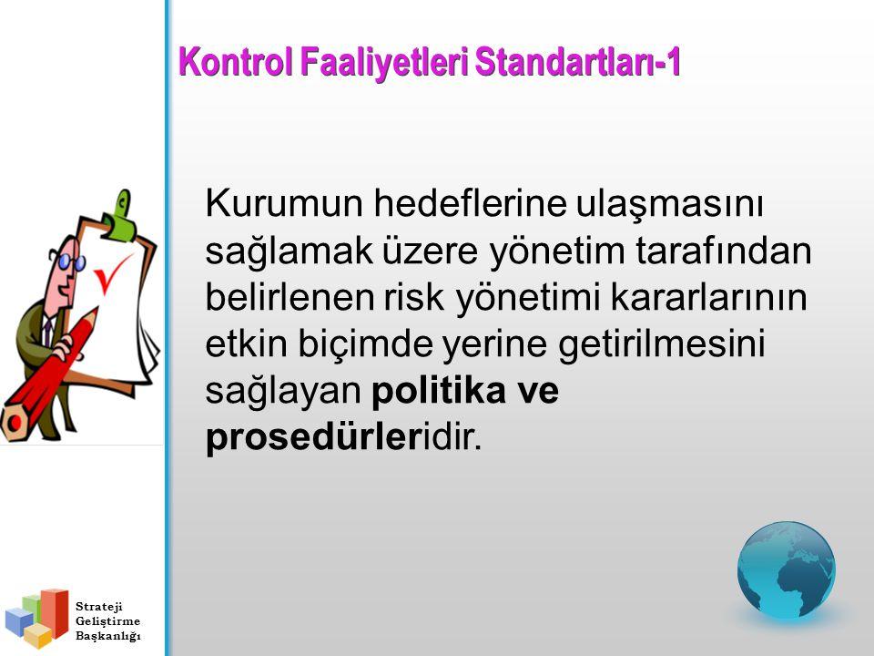 Kurumun hedeflerine ulaşmasını sağlamak üzere yönetim tarafından belirlenen risk yönetimi kararlarının etkin biçimde yerine getirilmesini sağlayan politika ve prosedürleridir.