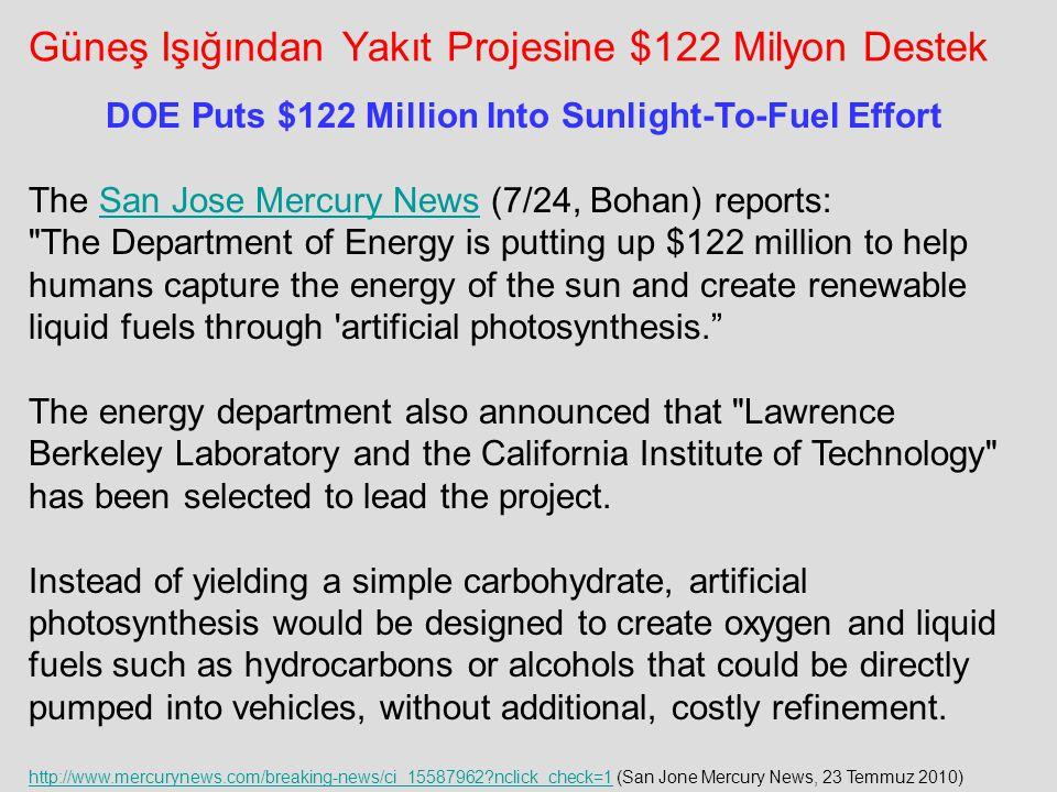 Güneş Işığından Yakıt Projesine $122 Milyon Destek http://www.mercurynews.com/breaking-news/ci_15587962?nclick_check=1http://www.mercurynews.com/break