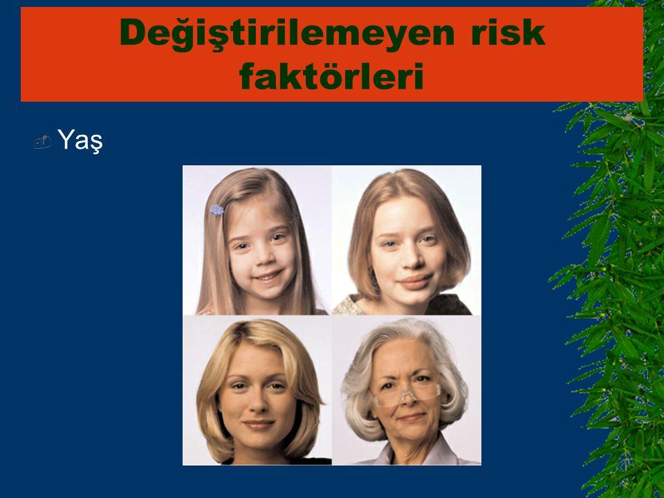  Yaş Değiştirilemeyen risk faktörleri