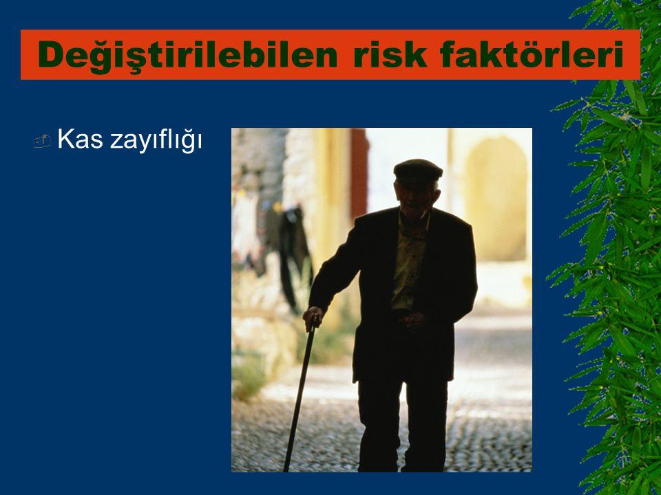  Kas zayıflığı Değiştirilebilen risk faktörleri