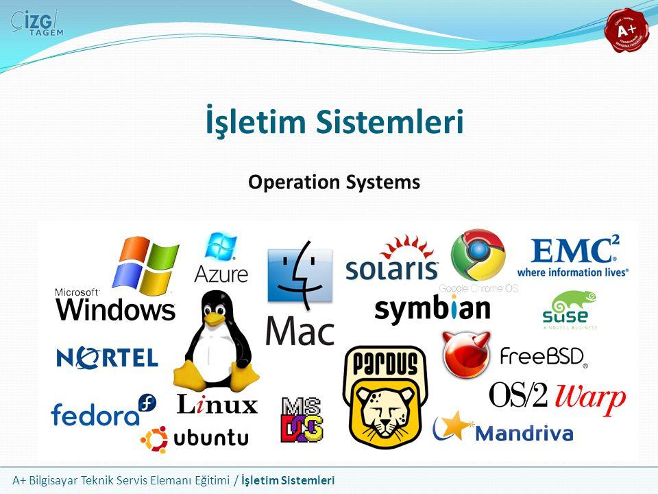 A+ Bilgisayar Teknik Servis Elemanı Eğitimi / İşletim Sistemleri İşletim Sistemleri Operation Systems
