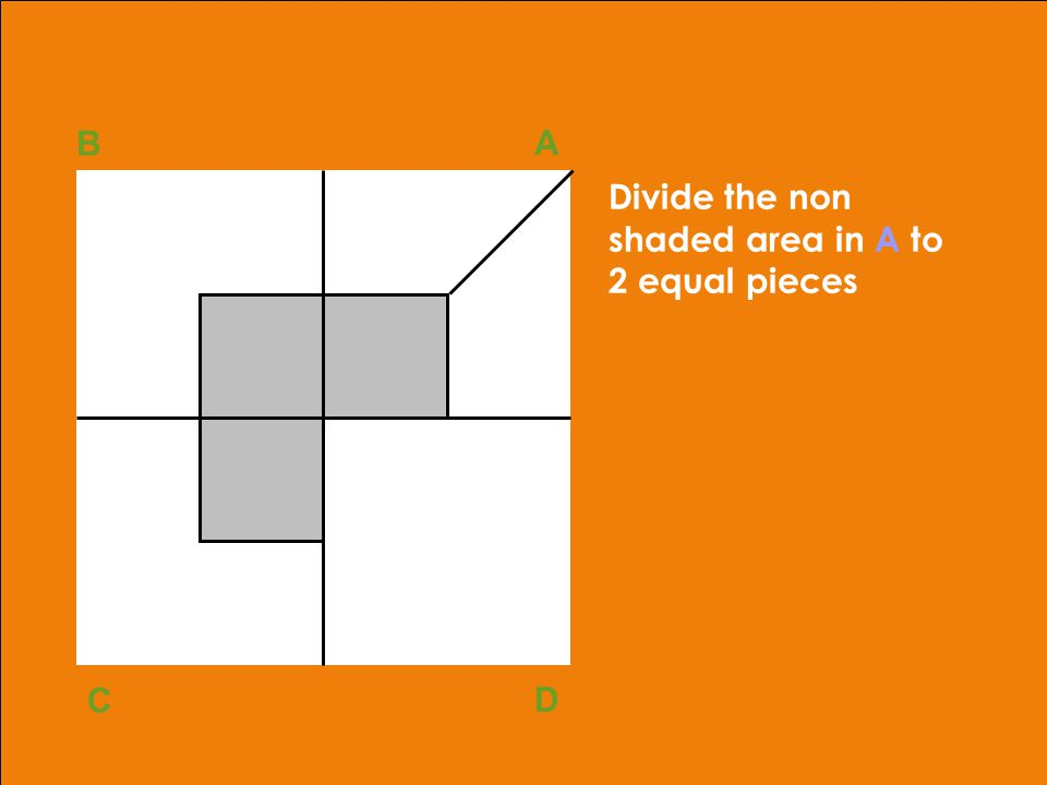 adapted from Robbins, OB, 10th ed.Copyright © 2002, Prentice Hall39 Divide the non shaded area in A to 2 equal pieces B A D C