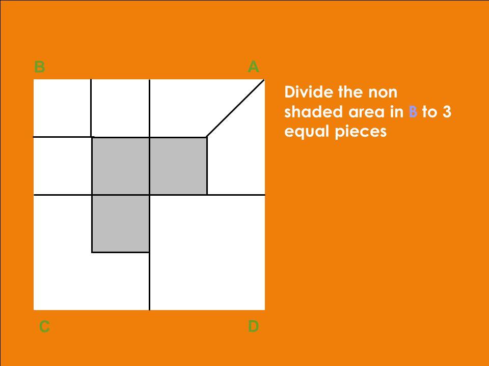 adapted from Robbins, OB, 10th ed.Copyright © 2002, Prentice Hall40 Divide the non shaded area in B to 3 equal pieces B A D C