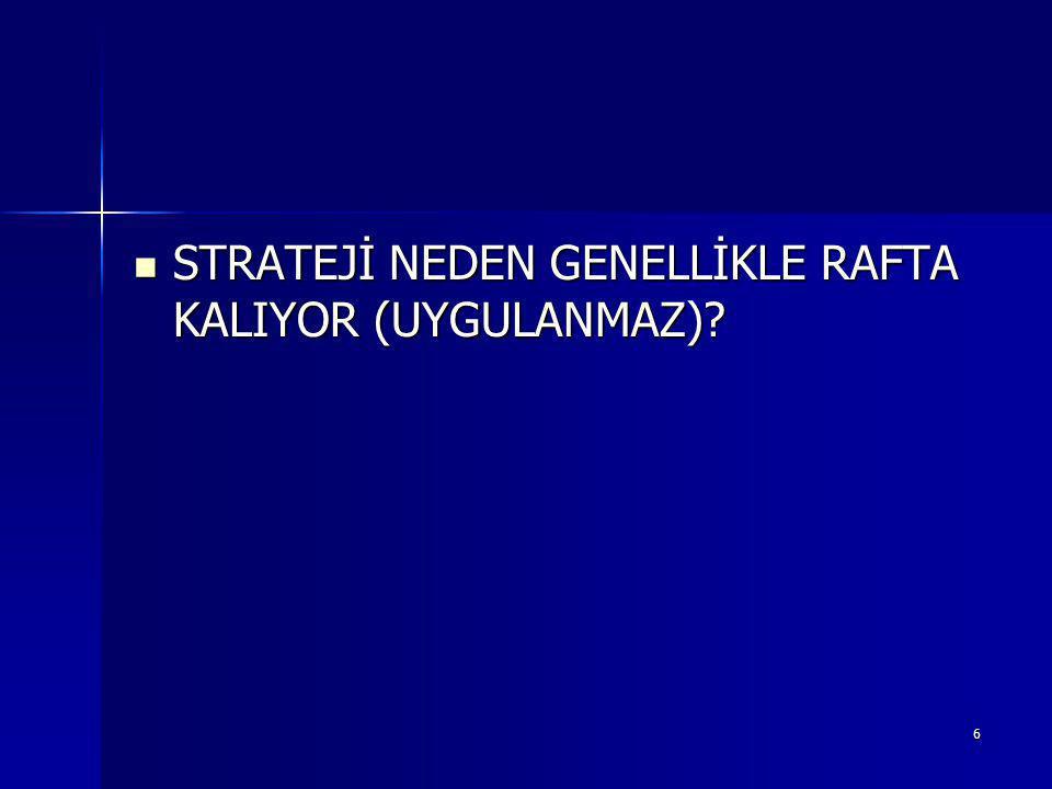 6 STRATEJİ NEDEN GENELLİKLE RAFTA KALIYOR (UYGULANMAZ).