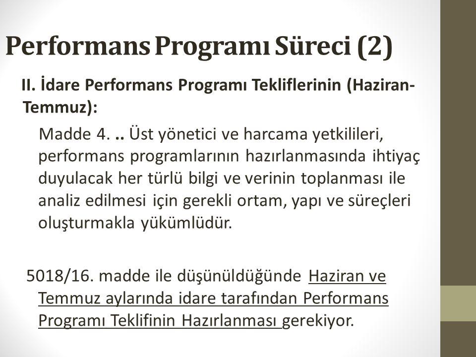 Performans Programı Süreci (1) Peki biz ne yaparsak daha iyi bir uygulamaya sahip oluruz.. 1.Bakanlık beyanı hazırlanması: Amaç ve hedefler 2.Kılavuz