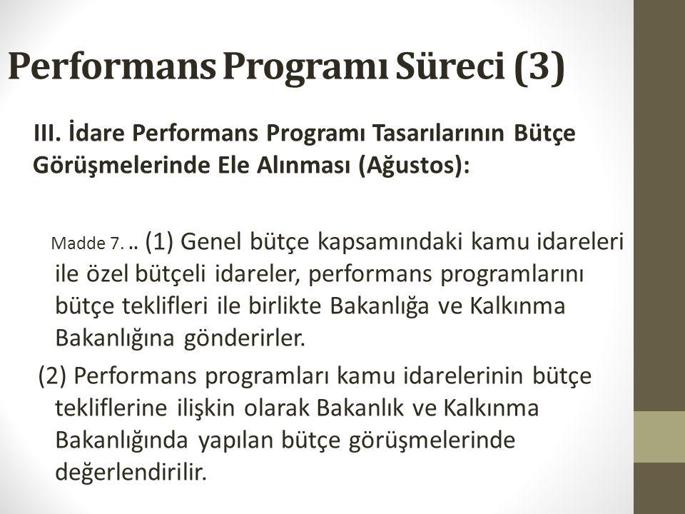 Performans Programı Süreci (2) Peki yine biz ne yapalım.. 1.Birimlerin performans programı tekliflerini hazırlaması: amaç/hedef ve üst yönetimin bekle