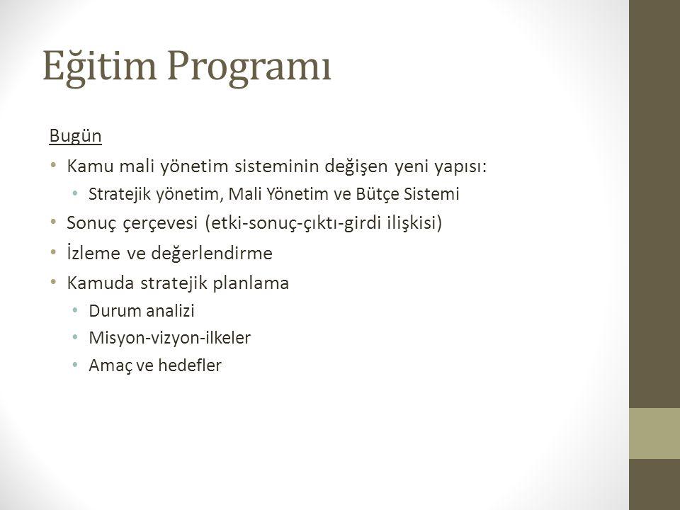 ORMAN VE SU İŞLERİ BAKANLIĞI STRATEJİK YÖNETİM VE PERFORMANS PROGRAMI EĞİTİMİ Dr. Volkan ERKAN Doç. Dr. H. Hakan Yılmaz 5-6 Eylül 2013