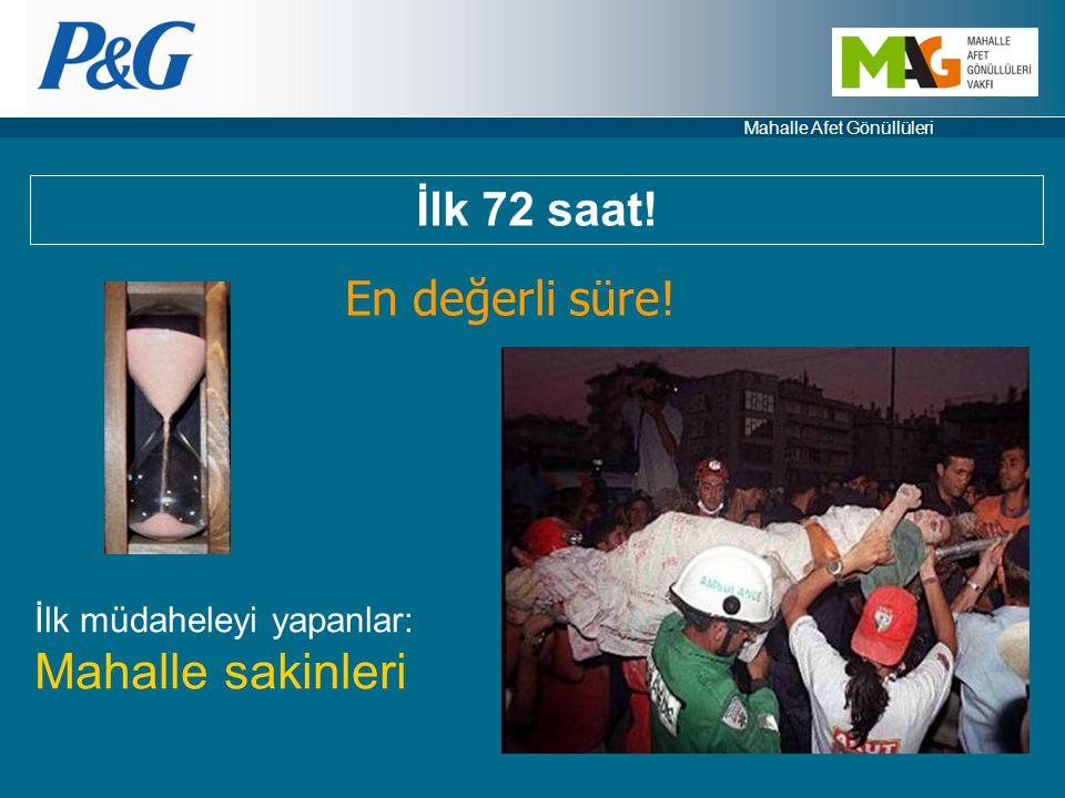Mahalle Afet Gönüllüleri En değerli süre! İlk müdaheleyi yapanlar: Mahalle sakinleri İlk 72 saat!