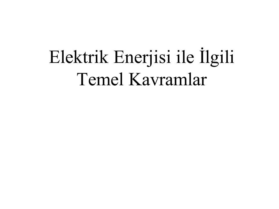 Elektrik Enerjisi ile İlgili Temel Kavramlar
