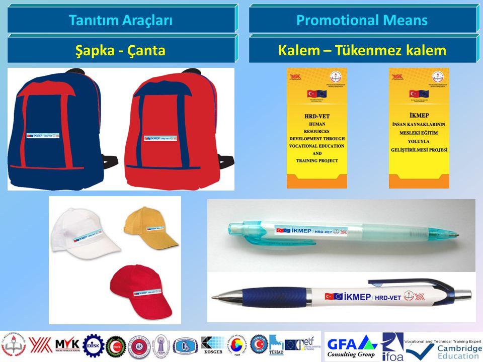 Tanıtım AraçlarıPromotional Means Şapka - ÇantaKalem – Tükenmez kalem