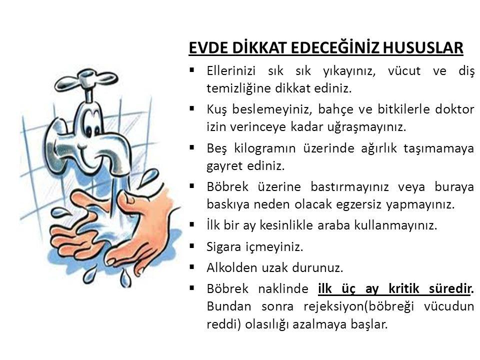 EVDE DİKKAT EDECEĞİNİZ HUSUSLAR  Ellerinizi sık sık yıkayınız, vücut ve diş temizliğine dikkat ediniz.  Kuş beslemeyiniz, bahçe ve bitkilerle doktor