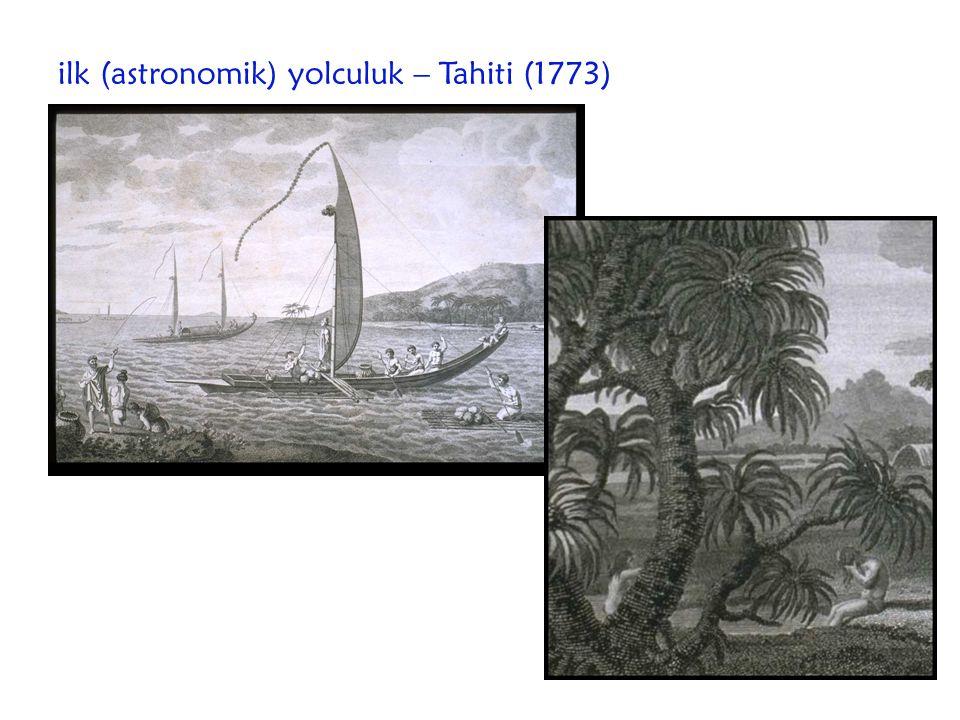 ilk (astronomik) yolculuk – Tahiti (1773)
