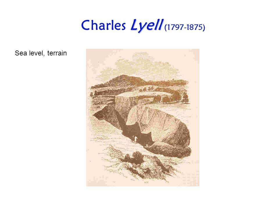 Lyell Charles Lyell (1797-1875) Sea level, terrain