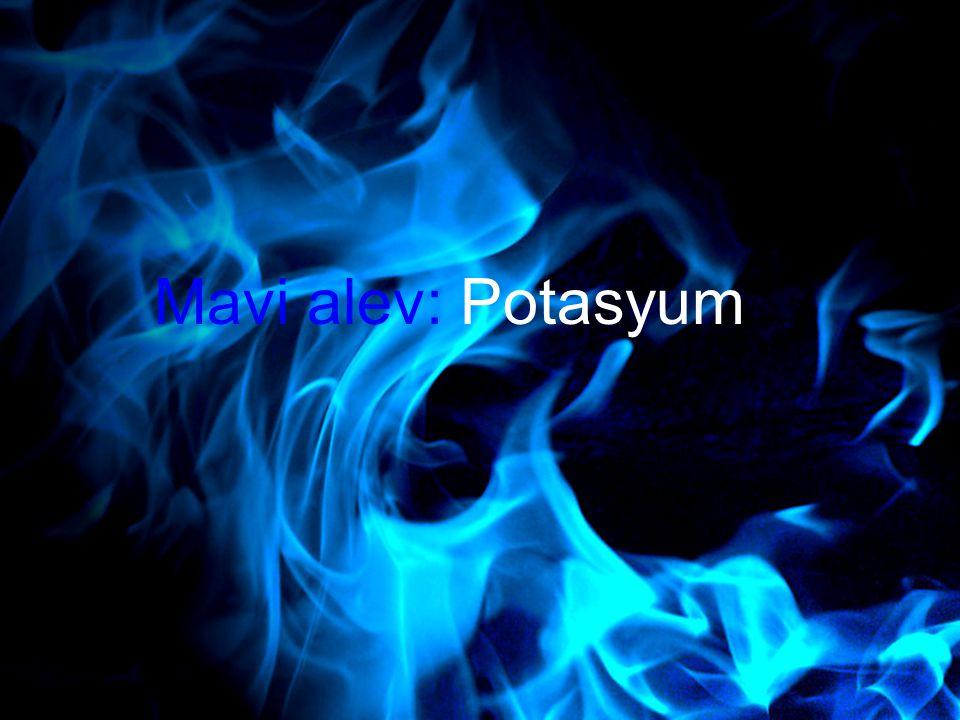 19 Mavi alev: Potasyum