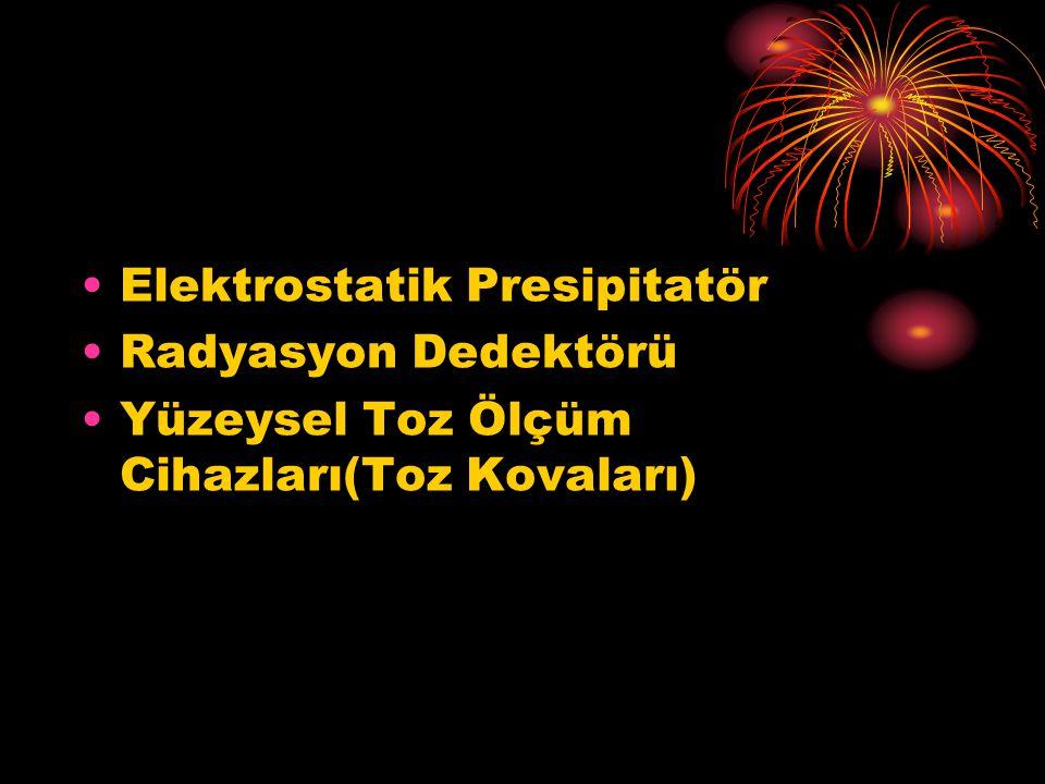 Elektrostatik Presipitatör Radyasyon Dedektörü Yüzeysel Toz Ölçüm Cihazları(Toz Kovaları)