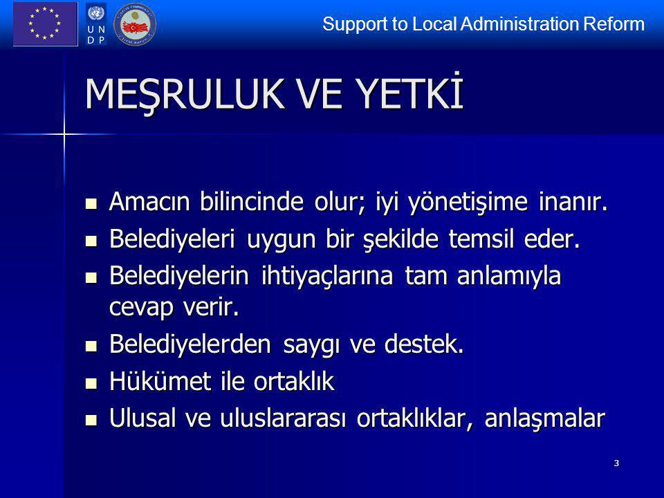 Support to Local Administration Reform 4 TEMSİL (LOBİCİLİK) Politikaları açık bir şekilde tanımlar.