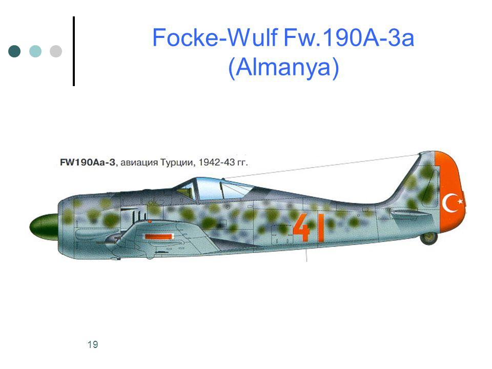 19 Focke-Wulf Fw.190A-3a (Almanya)