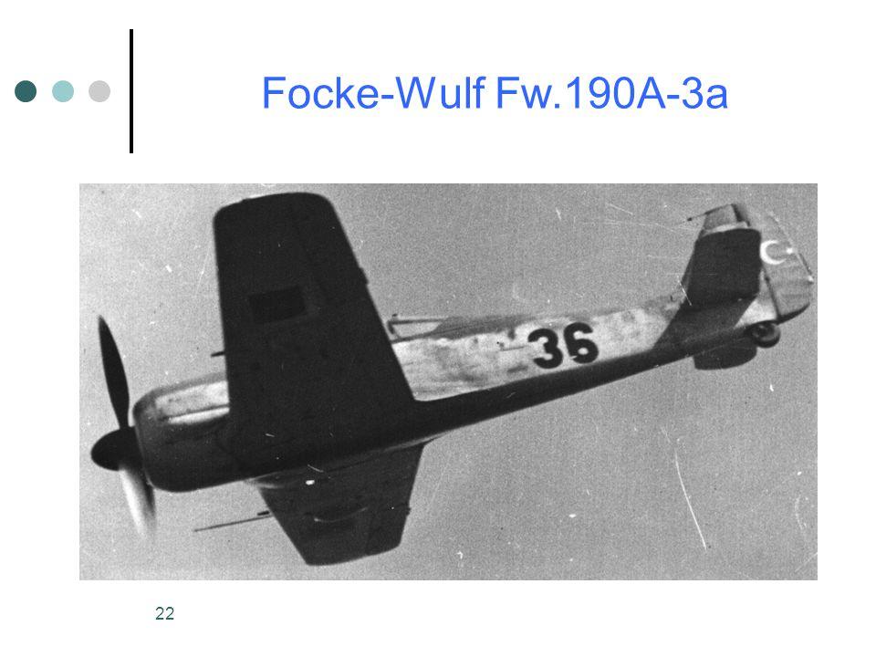 22 Focke-Wulf Fw.190A-3a