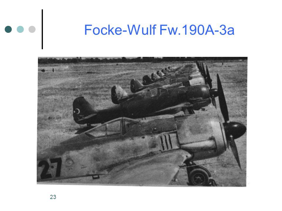 23 Focke-Wulf Fw.190A-3a