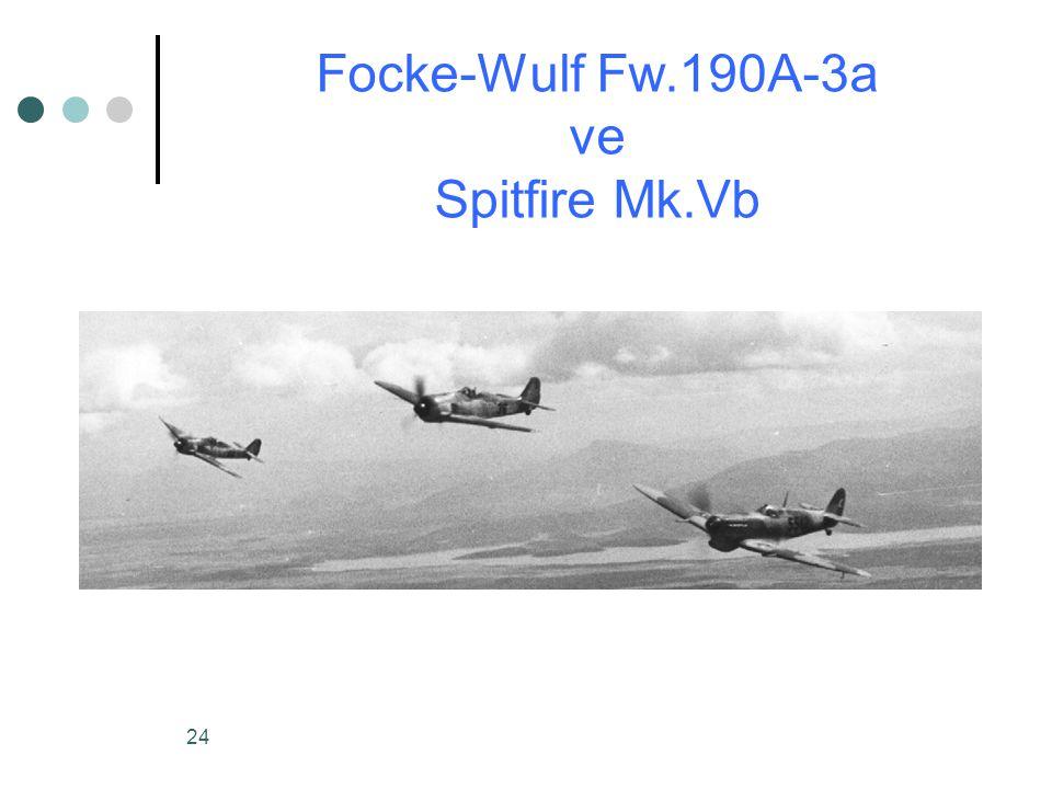 24 Focke-Wulf Fw.190A-3a ve Spitfire Mk.Vb
