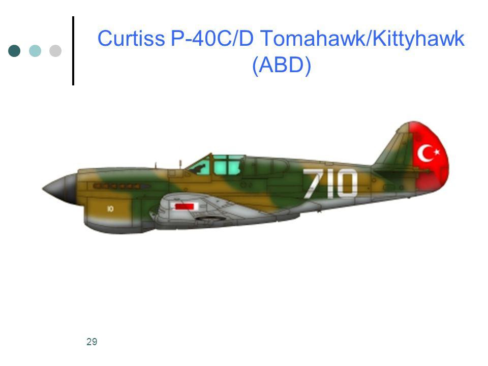 29 Curtiss P-40C/D Tomahawk/Kittyhawk (ABD)