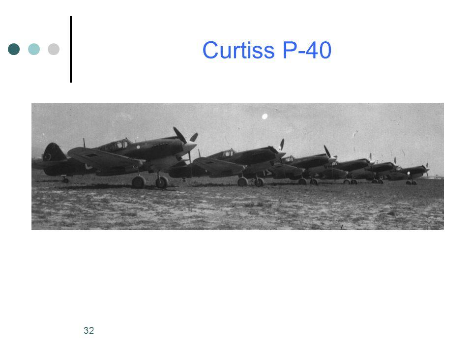 32 Curtiss P-40