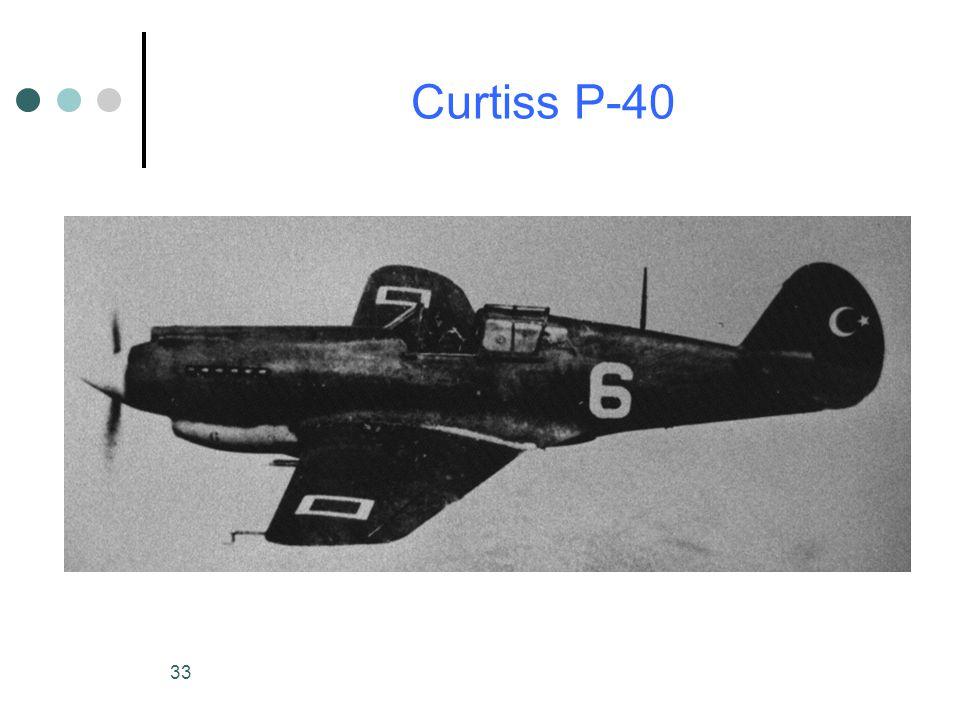 33 Curtiss P-40