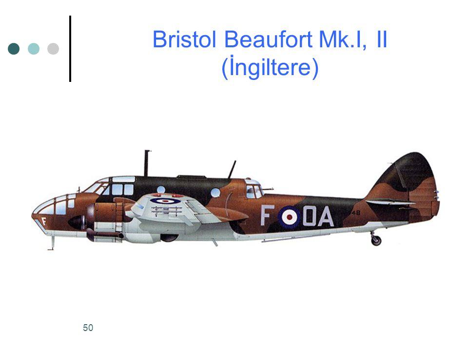 50 Bristol Beaufort Mk.I, II (İngiltere)