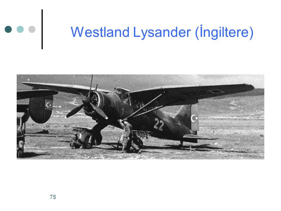 75 Westland Lysander (İngiltere)
