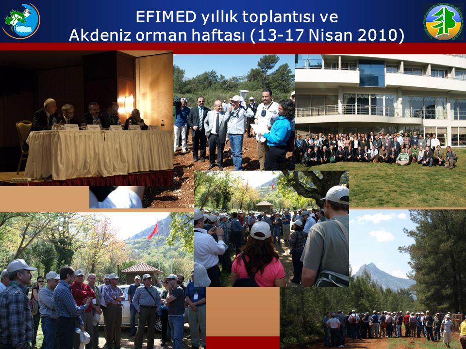 EFIMED yıllık toplantısı ve Akdeniz orman haftası (13-17 Nisan 2010)
