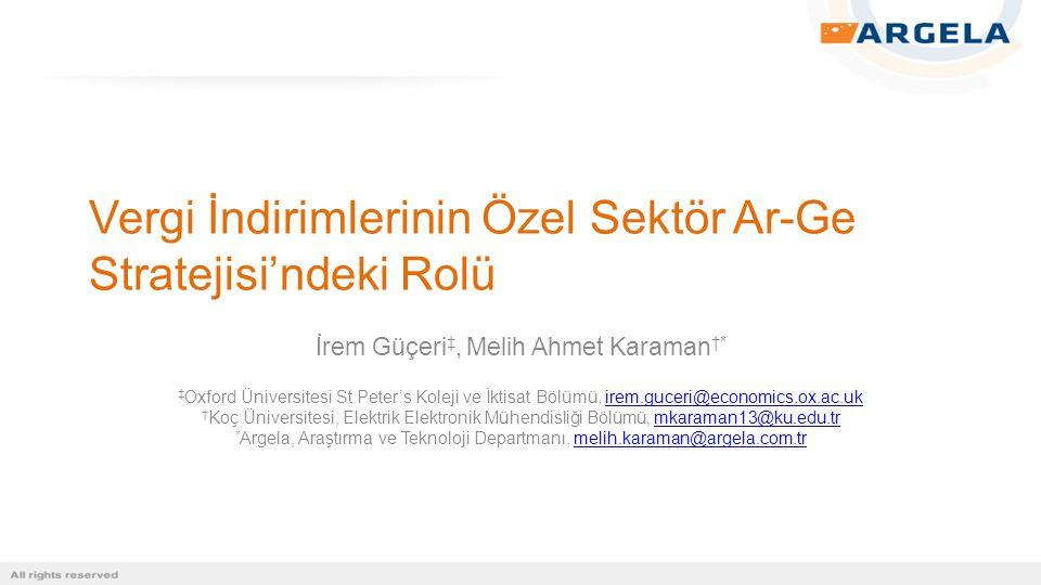 Türkiye'de Ar-Ge Vergi İndirimleri  Başka ülke uygulamaları ile karşılaştırıldığında Türkiye'deki vergi indirimleri iyi uygulamalara yakın ancak daha karmaşık bir yapıya sahiptir.