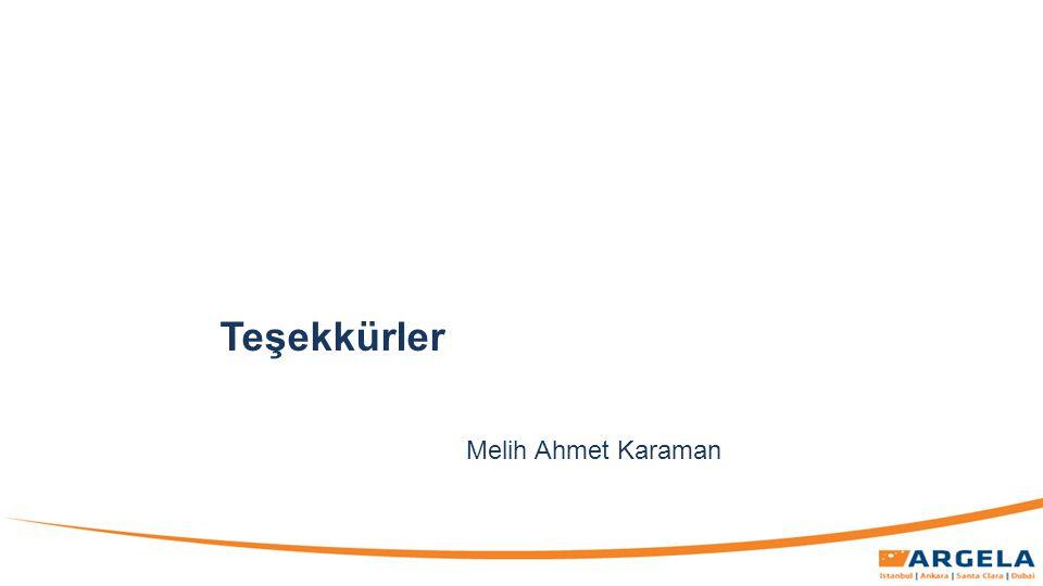 Teşekkürler Melih Ahmet Karaman